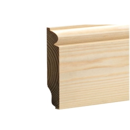 Softwood Torus / Ovolo Skirting - 25mm x 125mm - Per Metre
