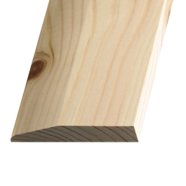 Softwood Chamfered Skirting - 19mm x 75mm - Per Metre