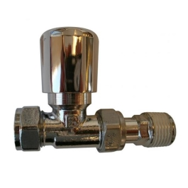 Straight Radiator Valve 15mm - Chrome - (9RVP15SCP)