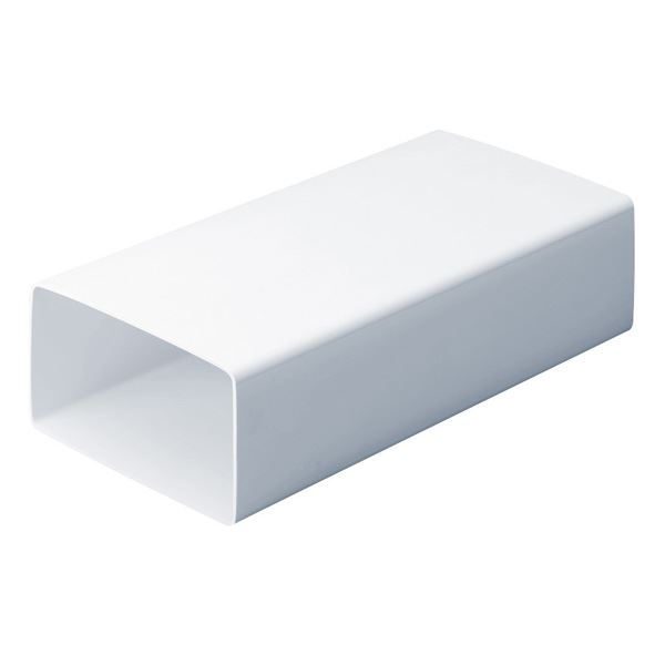 PVC Rectangular Duct 1Mt - Flat Channel - (9V010WH)