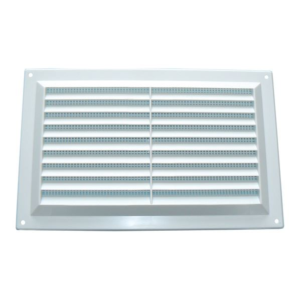 "Louvred Vent - White - 9"" x 9"""
