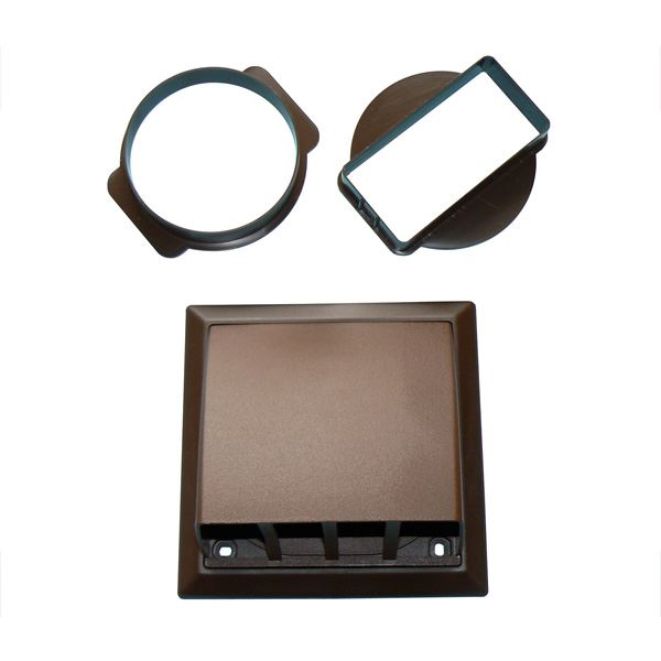 Wall Outlet - Gravity Flap - Brown - (9V100BR)