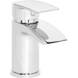 Basin Mixer Tap & Push Waste - Chrome - Coll Mono