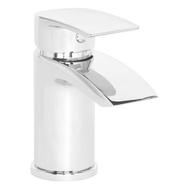 Basin Mixer Tap & Push Waste - Chrome - Skye Mono