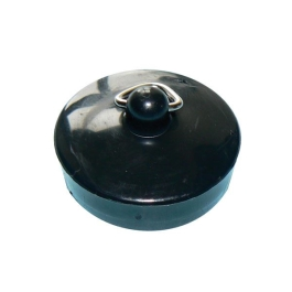 "Basin Plug 1 1/2"" - Black Plastic - (Pack of 2) - (200833)"