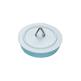 "Basin Plug 1 1/2"" - White Plastic - (Pack of 2) - (200842)"