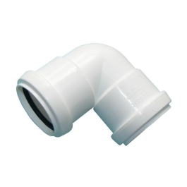 Pushfit Waste - White 32mm - Elbow 90D - (308103)