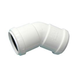 Pushfit Waste - White 32mm - Elbow 135D - (308127)