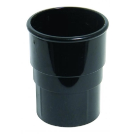Rainwater Round Pipe Connector - Black