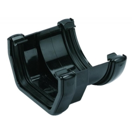 Rainwater Round Gutter Union - Round To Square - Black