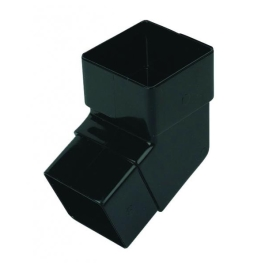 Rainwater Square Pipe Bend 112D - Black
