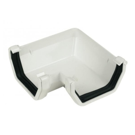 Rainwater Square Gutter Angle 90D - White