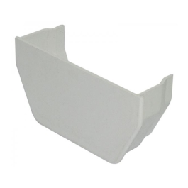 Rainwater Square Gutter Stop End - Internal - White