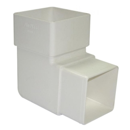 Rainwater Square Pipe Bend 92D - White