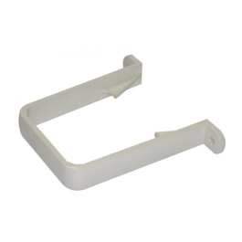 Rainwater Square Pipe Fixing Bracket - White