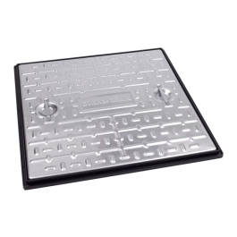 "Manhole Cover 24"" x 18"" - Galvanised Double Sealed Cover & Frame - Screwed - (24x18MCDS)"