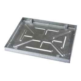 Manhole Cover - Galvanised - Recessed For Paving - 600mm x 450mm x 80mm