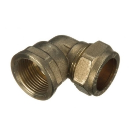 "Brass Compression - Female Iron Elbow - 15mm x 1/2"" - (9CEFI1512)"