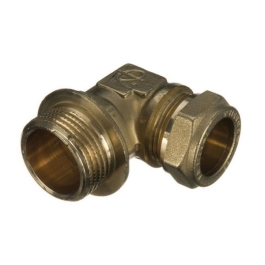 "Brass Compression - Male Iron Elbow - 15mm x 1/2"" - (9CEMI1512)"