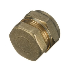 Brass Compression - Stop End 22mm - (Pack of 2) - (318512)