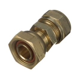 "Brass Compression - Straight Tap Connector - 15mm x 1/2"" - (9CT1512)"
