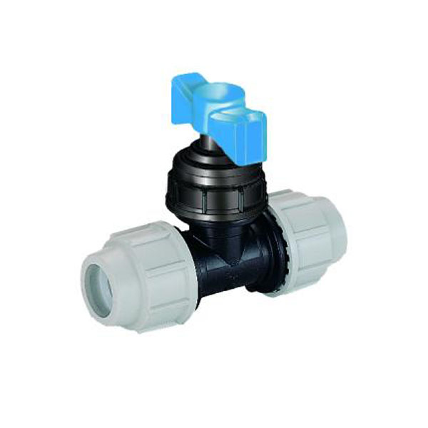 MDPE Blue Plastic Compression Stop Tap 25mm - (70036441)