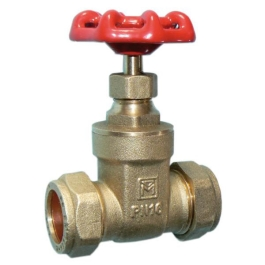 Gate Valve 15mm - Brass - (BS5154) - (302209)