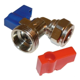 "Washing Machine Valve - 15mm x 3/4"" - Elbow - (392415)"