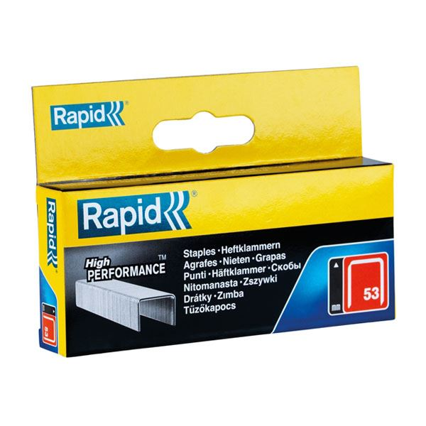 Rapid 53 Staples - 12mm Boxed - (2500)