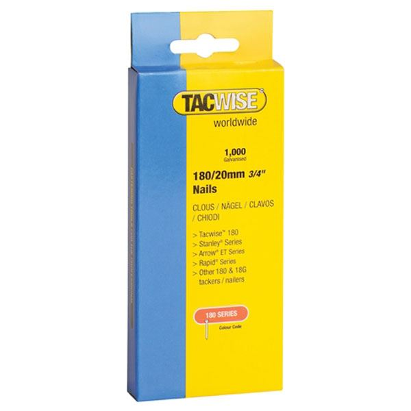 Tacwise Nails 25mm - 180 Series - (1000)