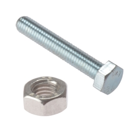 Hexagon Head Bolts & Nuts - M5 x 40mm - (Pack of 6) - (042590N)