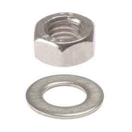 Hexagonal Nuts & Washers M6 - (Pack of 5) - (015105N)