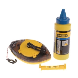 Stanley Chalk Line & Level 30Mt - Power Winder - Blue