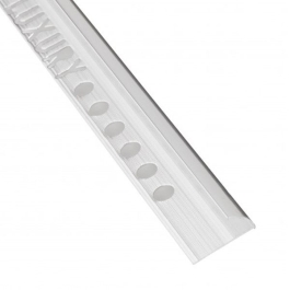 Tile Edge Trim - Round - 2.4Mt x 8mm - (Satin Chrome)