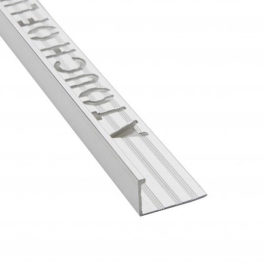Tile Edge Trim - Square - 2.4Mt x 8mm - (Satin Chrome)