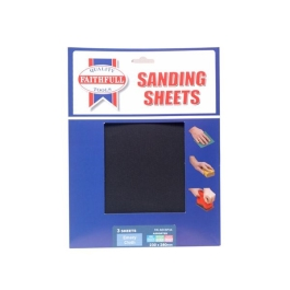 Faithfull Emery Cloth Sanding Sheets - Assorted (3)