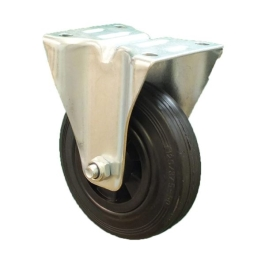 Castor Wheel - Rubber - 100mm x 60Kg - Fixed