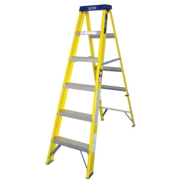 GRP Step Ladder - Yellow - 6 Tread