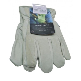 Gloves - Lined Leather Hide - Large - (B0038)