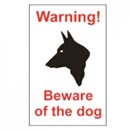 Centurion Sign - Warning Beware Of The Dog (2)