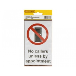 Centurion Sign - No Callers / Appointment (2)