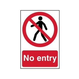 Centurion Sign - No Entry - (200mm x 300mm)