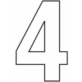 House Number 4 - Self Adhesive - White - (WH754P)