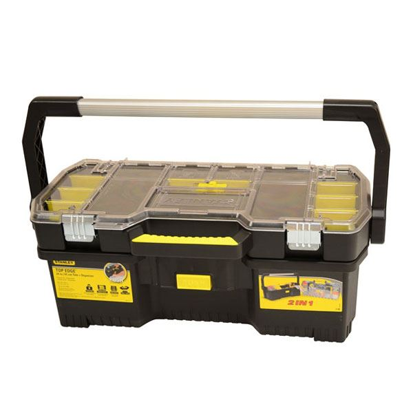"Stanley Toolbox 24"" - With Organiser Lid"