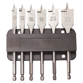 Dart Flat Wood Bits - (6Pc Set)