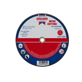 "Faithfull Metal Cutting Disc 12"" - 300mm x 3.5mm x 22mm"