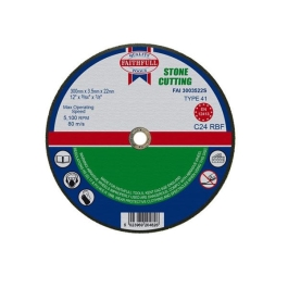 "Faithfull Stone Cutting Disc 9"" - 230mm x 3.2mm x 22mm"