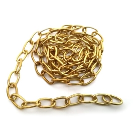Oval Link Chain 9mm - Brass - (CAG011BS)