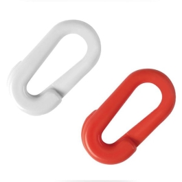 Mending Links 6mm - Red / White Plastic - (39-068)