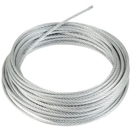 Wire Rope - 2mm x 30Mt - Steel Z.P